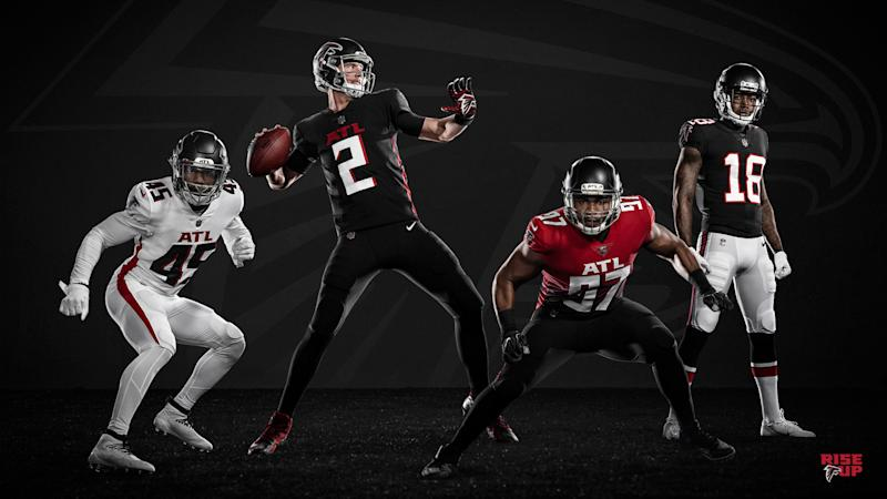 Falcons unveil flashy new uniforms featuring NFL's 1st gradient jersey