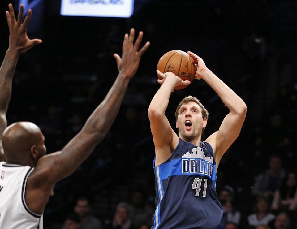 Dirk Nowitzki is one of the greatest players in NBA history. (AP)