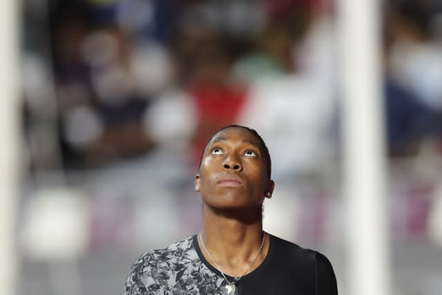 Caster Semenya powered to the fastest time in the world this year to win the 800m in Doha (Kamran Jebreili/AP)