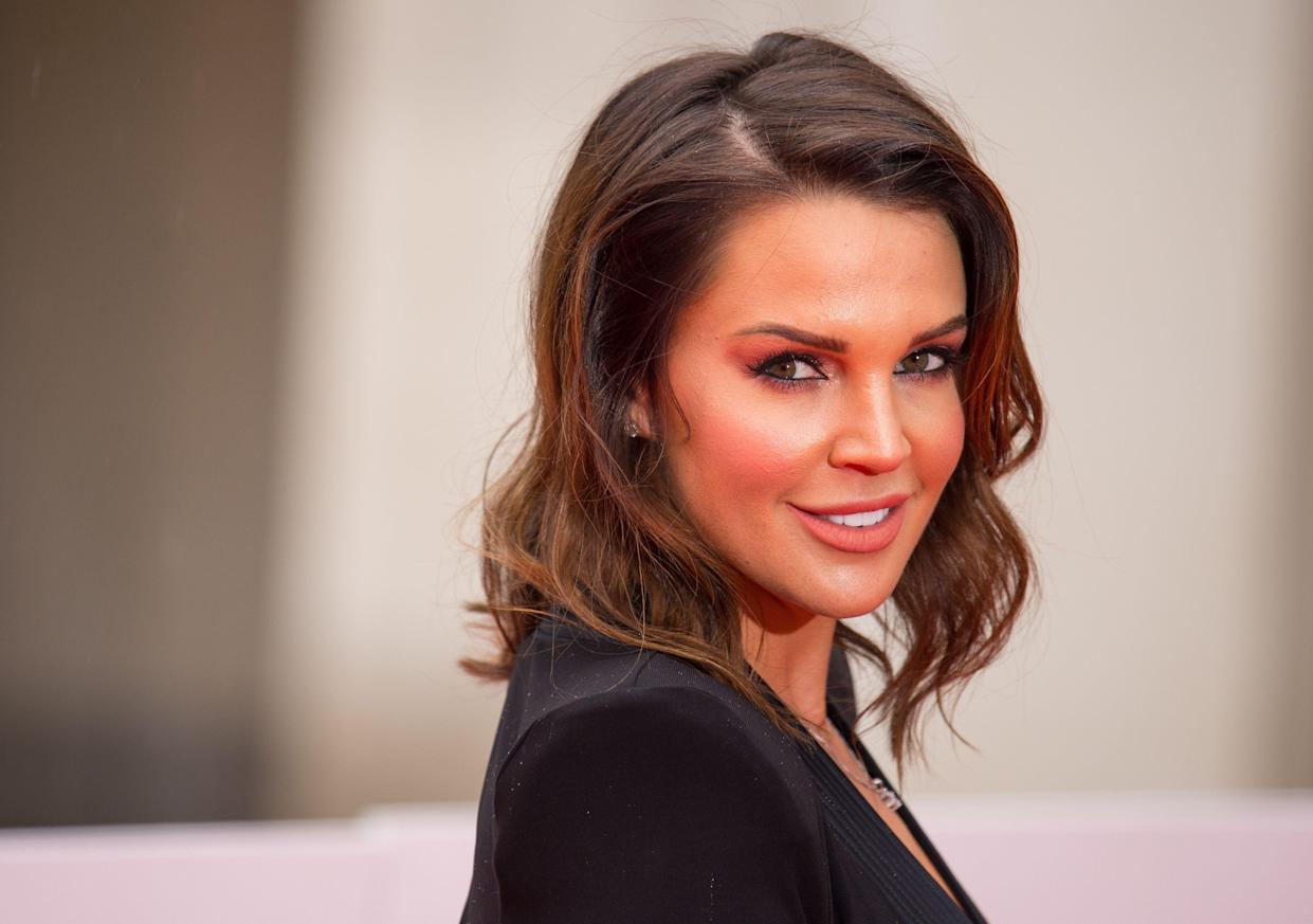 Danielle Lloyd arriving at the Sun Military Awards, at the Guildhall, London.
