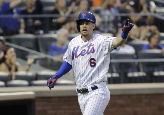 """Only Wade Boggs and Joe DiMaggio had more hits than <a class=""""link rapid-noclick-resp"""" href=""""/mlb/players/11118/"""" data-ylk=""""slk:Jeff McNeil"""">Jeff McNeil</a>'s 170 in their first 500 at-bats. (AP Photo/Frank Franklin II)"""