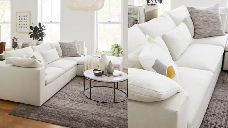 This well-made couch gives off serious Cloud Sofa vibes.