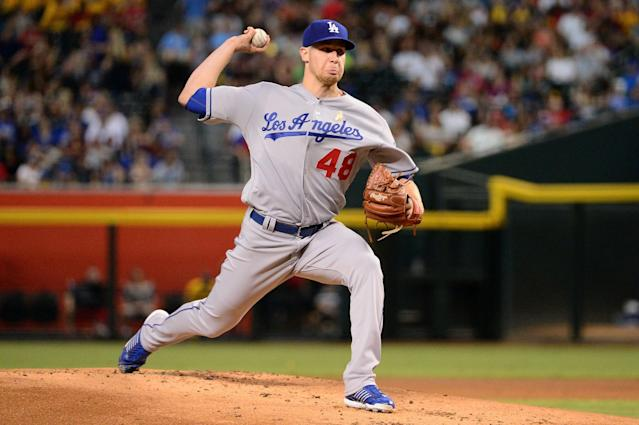 "Your 2016 Yahoo Sports Minor League Pitcher of the Year is Los Angeles' <a class=""link rapid-noclick-resp"" href=""/mlb/players/10325/"" data-ylk=""slk:Brock Stewart"">Brock Stewart</a>. (Getty Images)"