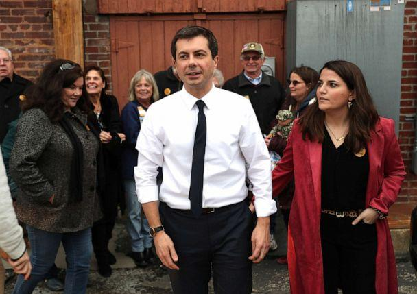PHOTO: Democratic presidential candidate South Bend, Indiana Mayor Pete Buttigieg leaves after holding a campaign event at the Majestic Theater, Dec. 29, 2019, in Centerville, Iowa. (Joe Raedle/Getty Images)