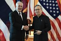 Tillerson in Thailand to press junta on North Korea ties