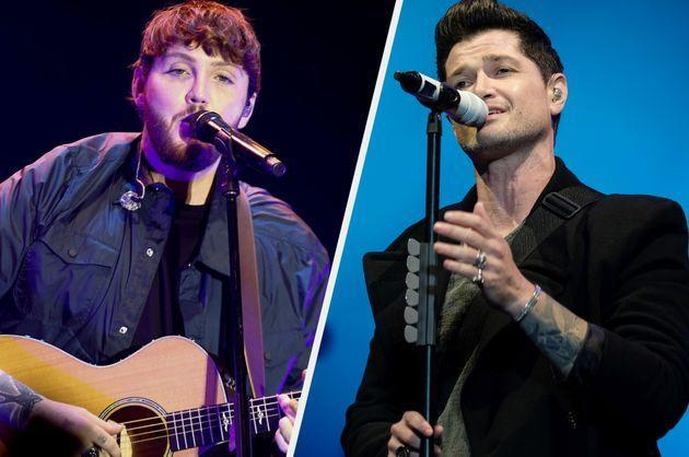 James Arthur and Danny O'Donoghue of The Script (Photo: Getty)