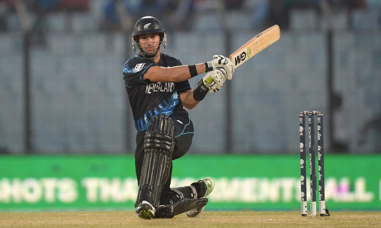 CHITTAGONG, BANGLADESH - MARCH 24:  Ross Taylor of New Zealand bats during the ICC World Twenty20 Bangladesh 2014 Group 1 match between New Zealand and South Africa at Zahur Ahmed Chowdhury Stadium on March 24, 2014 in Chittagong, Bangladesh.  (Photo by Gareth Copley/Getty Images)
