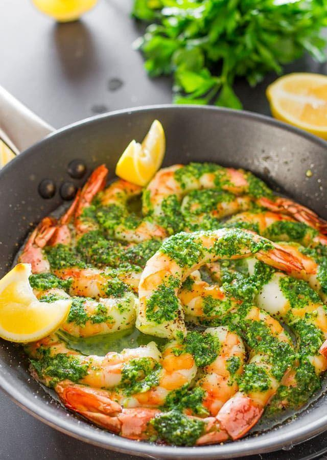"""<p>Make these jumbo garlic shrimp an appetizer or the main attraction at your New Year's Eve gathering. The best part is that they take only 15 minutes to make!</p><p><strong>Get the recipe at <a href=""""https://www.jocooks.com/recipes/garlic-parsley-butter-shrimp/"""" rel=""""nofollow noopener"""" target=""""_blank"""" data-ylk=""""slk:Jo Cooks"""" class=""""link rapid-noclick-resp"""">Jo Cooks</a>.</strong> </p>"""