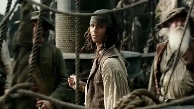 Young Jack Sparrow as glimpsed in one of the 'Pirates of the Caribbean: Salazar's Revenge' trailers (Disney)