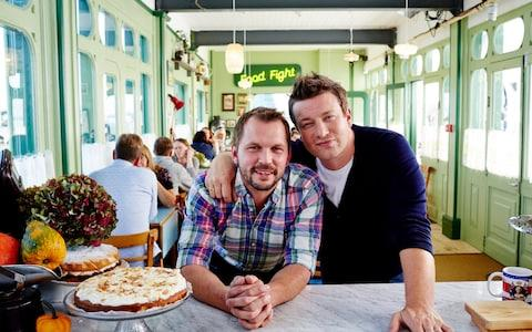 Jimmy Doherty and Jamie Oliver - Credit: Steve Ryan