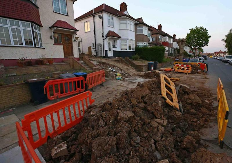 Witnesses told of the tragic scenes as the family carried out renovations to their garden (Nigel Howard)