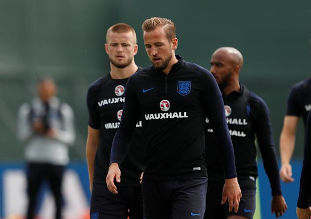 Soccer Football - World Cup - England Training - England Training Camp, Saint Petersburg, Russia - June 21, 2018 England's Harry Kane during training REUTERS/Lee Smith