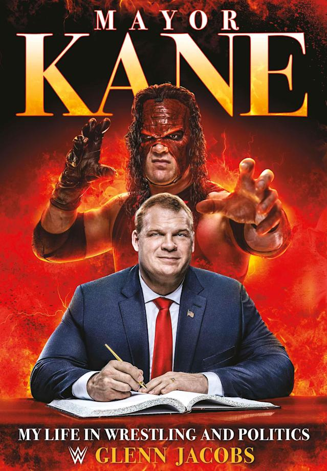 "Cover of Glenn Jacobs's new book, ""Mayor Kane."" (Photo courtesy of WWE)"