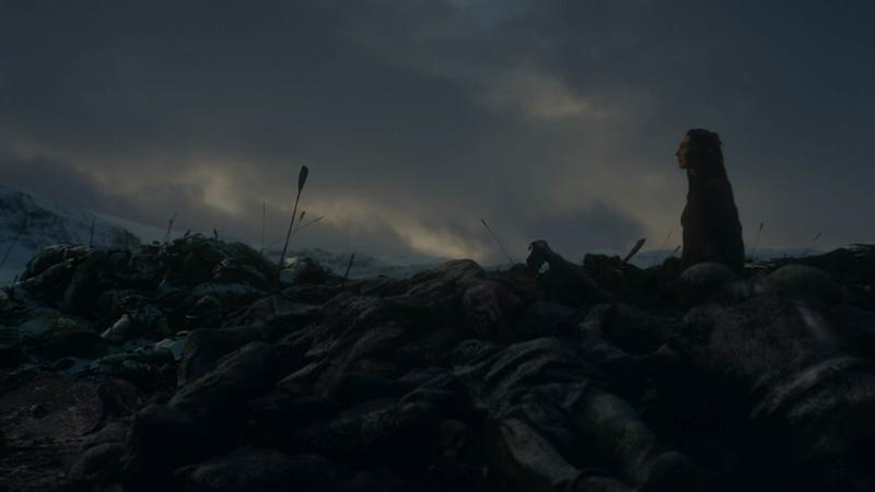 Melisandre walks to her final resting place in 'Game of Thrones' (Photo: Courtesy of HBO)