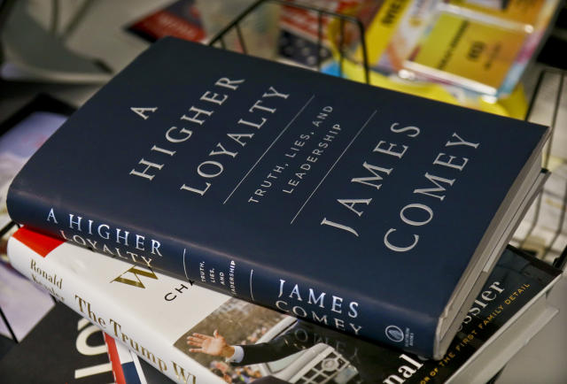 """""""A Higher Loyalty: Truth, Lies, and Leadership,"""" by former FBI Director James Comey, will be released April 17. (Photo: Bebeto Matthews/AP)"""