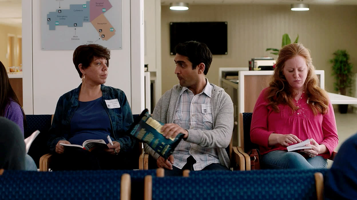 "Exclusive clip from the dramatic romantic comedy ""The Big Sick"" about Pakistan-born comedian Kumail Nanjiani and grad student Emily Gardner who fall in love but struggle as their cultures clash. Starring Kumail Nanjiani, Holly Hunter and Ray Romano. Co-written by Emily V. Gordon and Kumail Nanjiani. Directed by Michael Showalter."