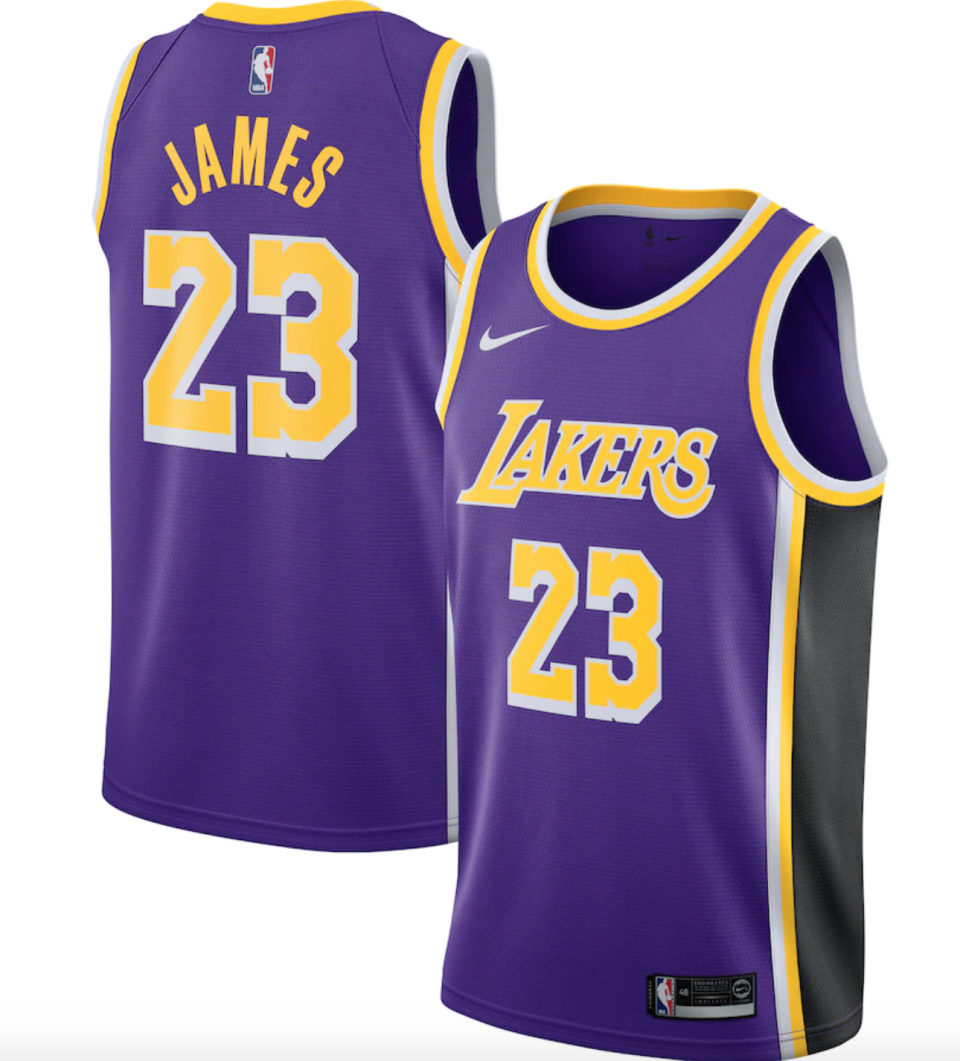 At $33 off the original price, LeBron James' Lakers jerseys are on sale for $77, the cheapest we've ever seen