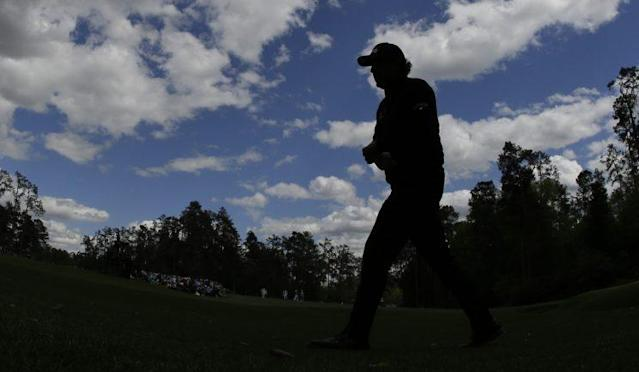Phil Mickelson is even par, four strokes back at the Masters. (AP)