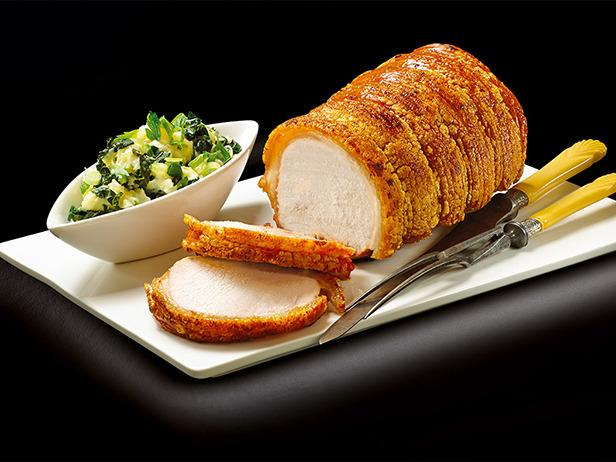 Roast Pork Loin and Crackling with Colcannon
