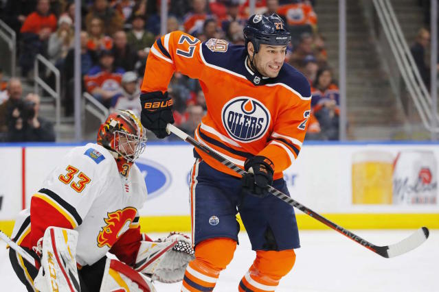 Milan Lucic has reportedly been traded from the Edmonton Oilers to the Calgary Flames in exchange for James Neal. (Perry Nelson-USA TODAY Sports)