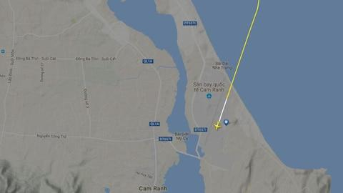 The A321 lined up with the wrong runway - Credit: FlightRadar24.com
