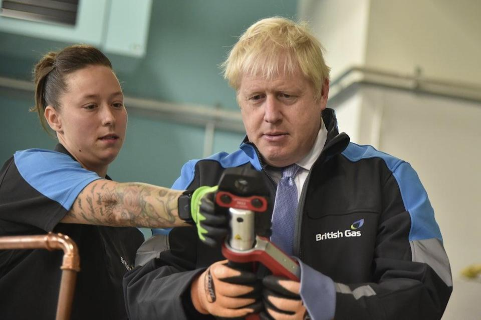 Boris Johnson was tight-lipped on whether he would rule out a winter lockdown ahead of Tuesday's announcement (PA Wire)