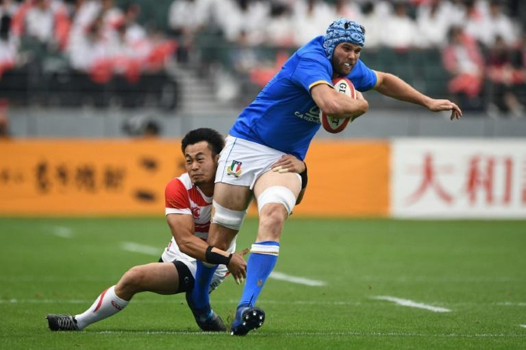 Italy's Dean Budd captained his side against Ireland in August (AFP Photo/Martin BUREAU)