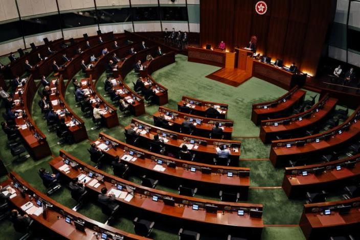 """A general view of Hong Kong Chief Executive Carrie Lam's quarterly """"Question and Answer Session"""" at the Legislative Council, in Hong Kong"""
