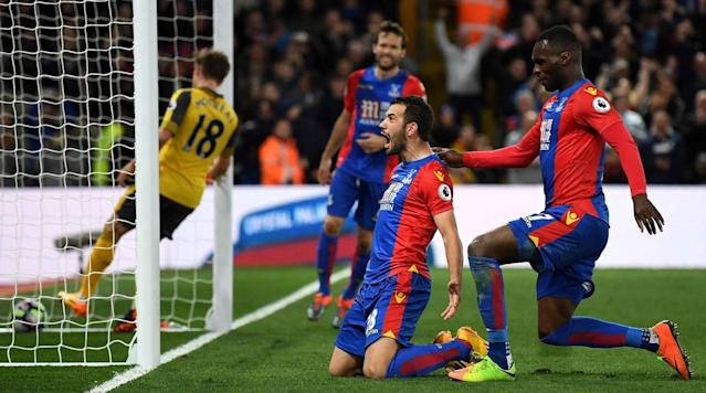Crystal Palace moved six points clear of the drop zone, while Arsenal suffered a blow in its top-four hopes after a comprehensive 3-0 win for Sam Allardyce's side at Selhurst Park on Monday.