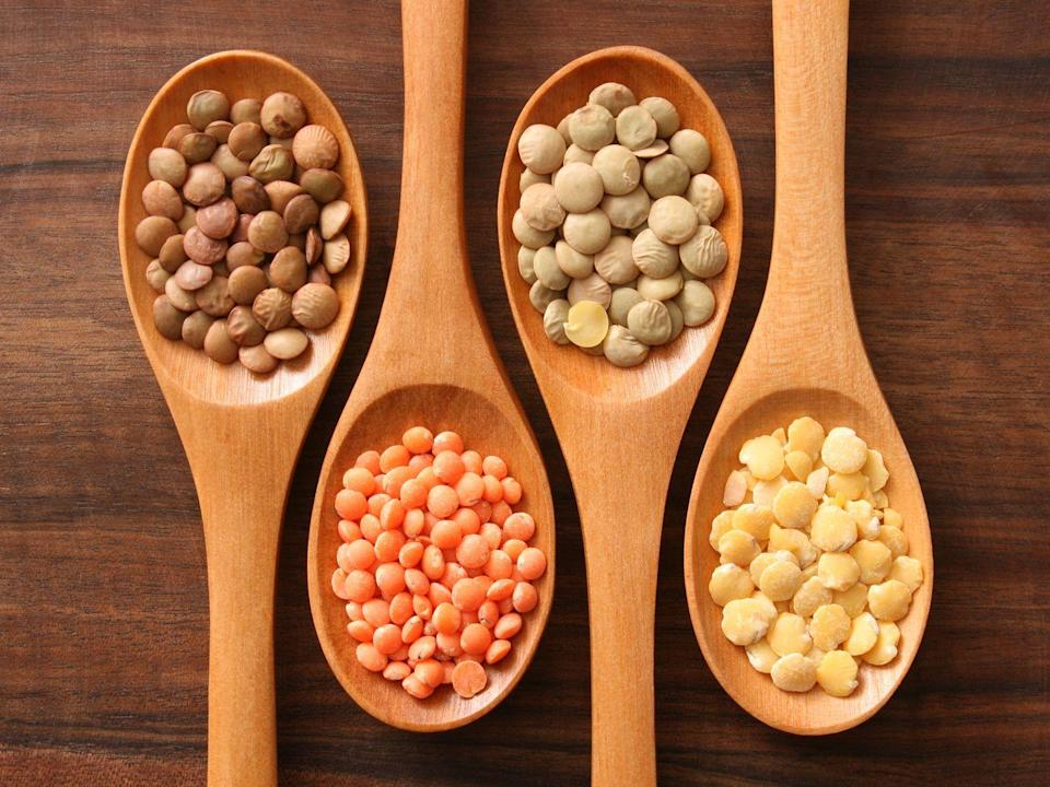 <p>Lentils count as both a vegetable and a protein, which makes them a smart and budget-friendly choice. The legumes provide plenty of fiber, 50% of our daily folate, and 45% of our daily iron recommendations. </p>