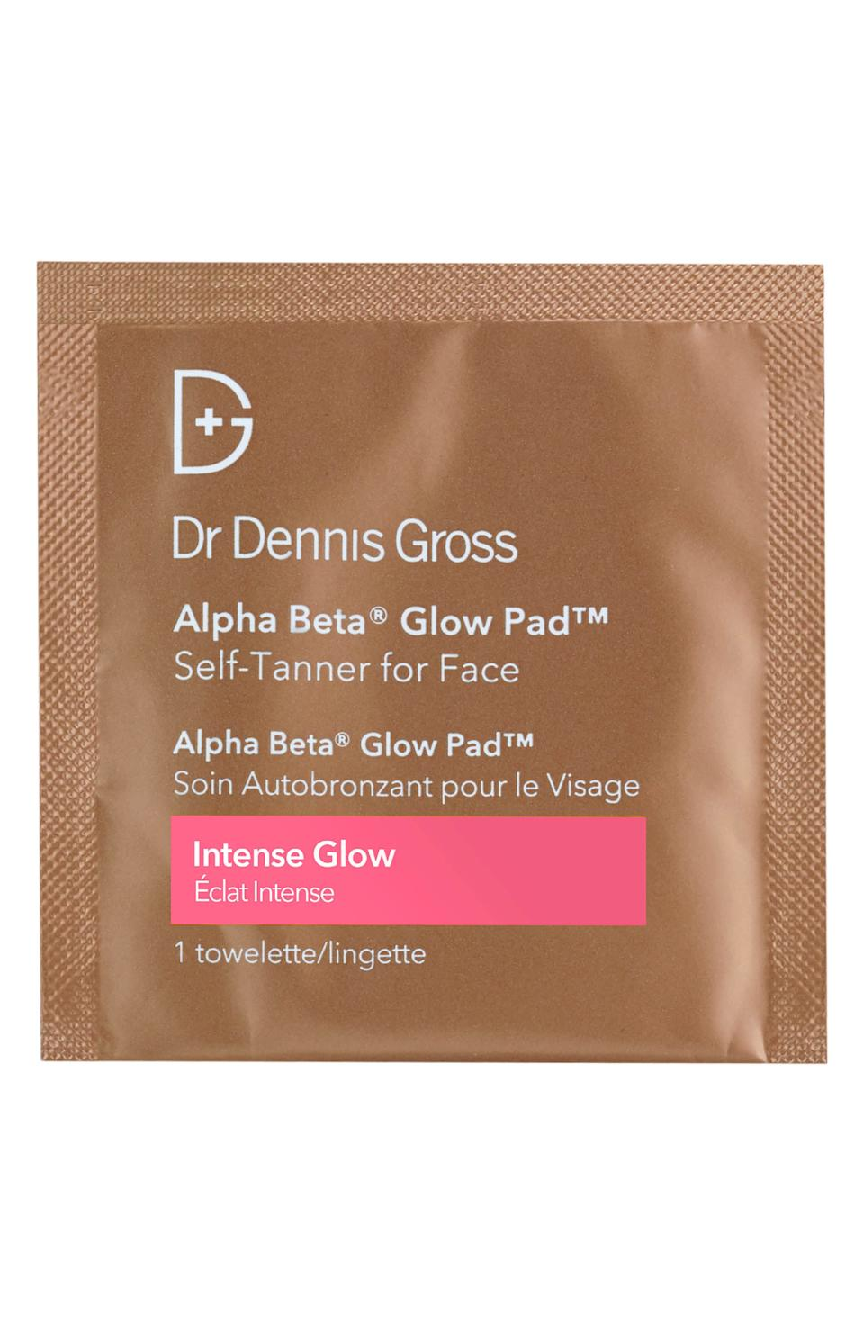 """<strong><h3>Dr. Dennis Gross Alpha Beta Glow Pad</h3></strong><br><strong>The Five-Second Self Tanner</strong><br><br>Dr. Dennis Gross's easy-to-use tan towelettes are convenient, quick, and contain good-for-you ingredients like glycolic acid, lactic acid, and willow bark extract to exfoliate and brighten skin.<br><br><strong>The Hype:</strong> 4.8 out of 5 stars and 149 reviews on <a href=""""https://shop.nordstrom.com/s/dr-dennis-gross-skincare-alpha-beta-glow-pad-for-face/3168806"""" rel=""""nofollow noopener"""" target=""""_blank"""" data-ylk=""""slk:Nordstrom"""" class=""""link rapid-noclick-resp"""">Nordstrom</a><br><br><strong>Reviewers Say: </strong>""""I tried a few face tanning products; this is probably the best one. It didn't turn out orange, and there were no streaks. Oh, and it didn't make me break out which is huge!!"""" — Tanka, Nordstrom Reviewer<br><br><strong>Dr. Dennis Gross</strong> Skincare Alpha Beta® Glow Pad™ for Face, $, available at <a href=""""https://go.skimresources.com/?id=30283X879131&url=https%3A%2F%2Fshop.nordstrom.com%2Fs%2Fdr-dennis-gross-skincare-alpha-beta-glow-pad-for-face%2F3168806"""" rel=""""nofollow noopener"""" target=""""_blank"""" data-ylk=""""slk:Nordstrom"""" class=""""link rapid-noclick-resp"""">Nordstrom</a>"""