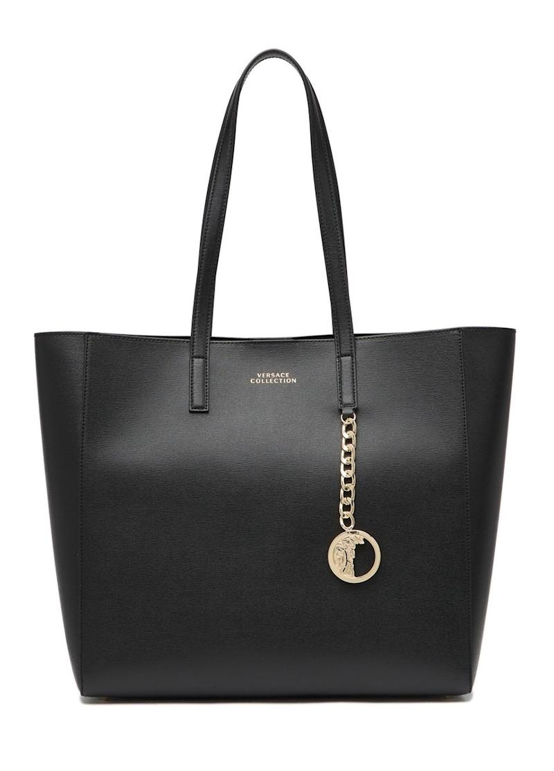Versace Saffiano Leather Tote