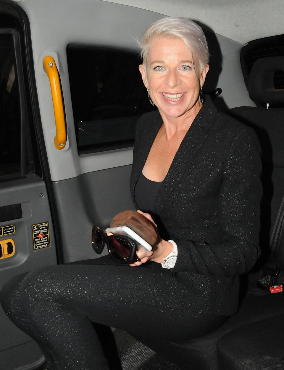 Hopkins being snapped getting out of a taxi. (REX)