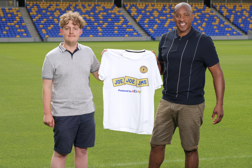 Dion Dublin (right) helped launch the new partnership between the EFL and eBay for their 'Small Businesses United' campaign