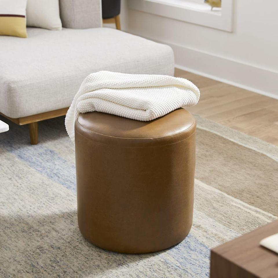 """<p><strong>leather</strong></p><p>westelm.com</p><p><strong>$159.20</strong></p><p><a href=""""https://go.redirectingat.com?id=74968X1596630&url=https%3A%2F%2Fwww.westelm.com%2Fproducts%2Fisla-leather-ottoman-h5896&sref=https%3A%2F%2Fwww.esquire.com%2Fentertainment%2Fmovies%2Fg36098928%2Fmovie-night-ideas%2F"""" rel=""""nofollow noopener"""" target=""""_blank"""" data-ylk=""""slk:Shop Now"""" class=""""link rapid-noclick-resp"""">Shop Now</a></p><p>Movie night is a great time to put your feet up. I'm a fan of this leather footstool—it's a godsend for achy legs, but will also come in clutch when it's time to entertain again. If you have fewer chairs than you do guests, pull out this footstool, which can act as a chair in a pinch.</p>"""