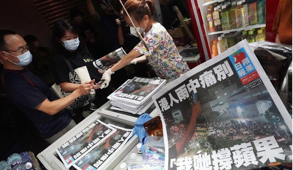 The last edition of Apple Daily came out on June 24. Photo: Felix Wong