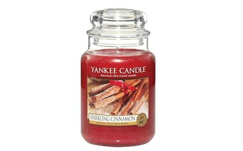 Yankee Candle Large Jar Scented Candle, Sparkling Cinnamon amazon cyber monday
