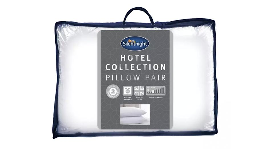 Silentnight Luxury Hotel Collection Med/Soft Pillow - 2 Pack