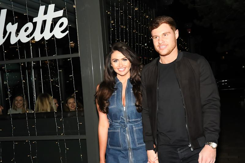 Charlotte Dawson and Matthew Sarsfield attend the Cocktails and Carbs event at The Laundrette on March 5, 2018 in Manchester, England. (Photo by Carla Speight/Getty Images)