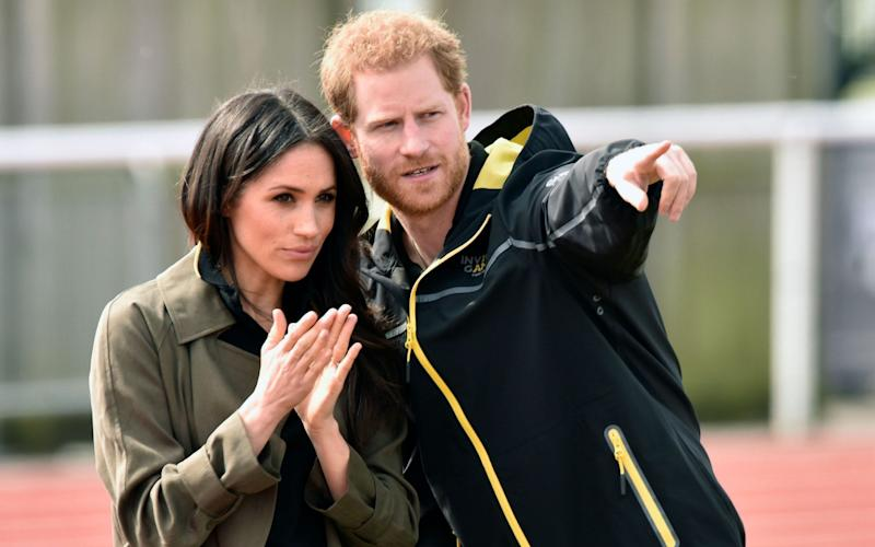 Dream team? Soon to be producers Harry and Meghan