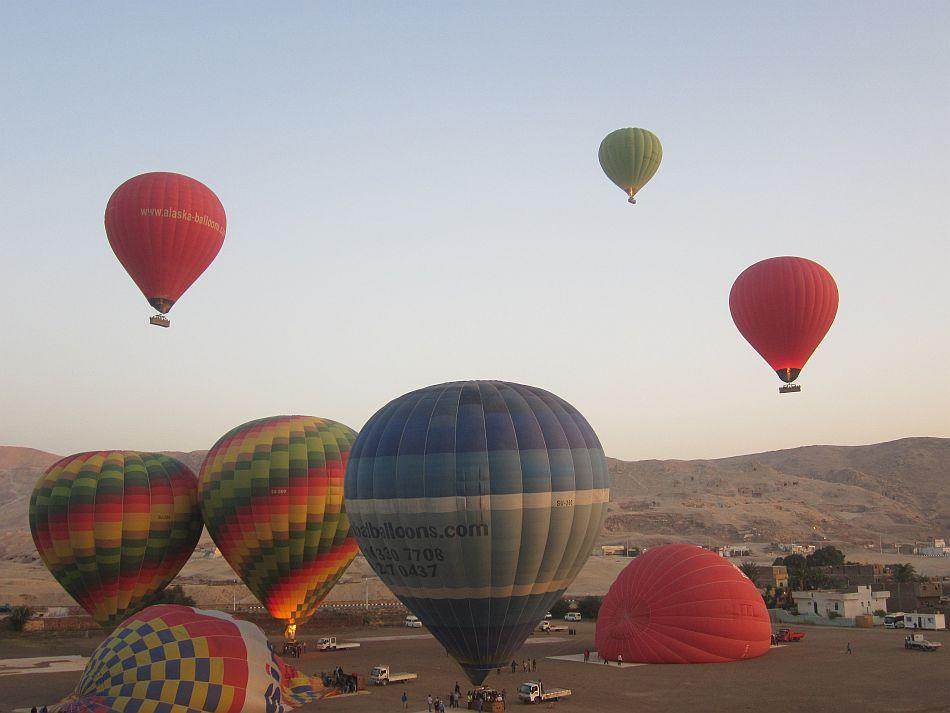 Hot-air balloons at the Valley of the Kings, Luxor