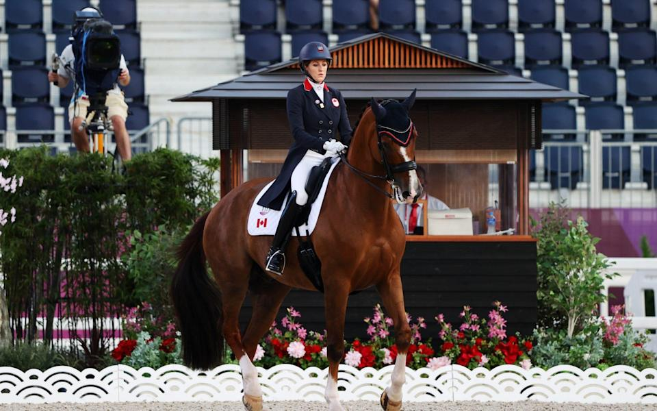 Brittany Fraser-Beaulieu of Canada on her horse - REUTERS/Hamad I Mohammed
