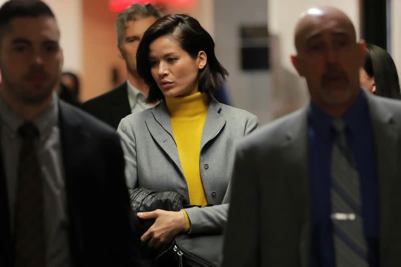 Tarale Wulff, witness in the trial of film producer Harvey Weinstein returns to court following a break in New York State Supreme Court in the Manhattan borough of New York