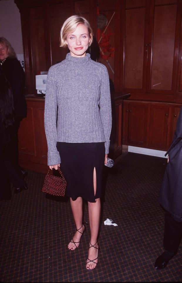 """Cameron Diaz at the """"Wild Things"""" Los Angeles Premiere in 1998."""