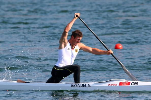 Sebastian Brendel of Germany competes in the Men's Canoe Single (C1) 200m Sprint Final B on Day 15 of the London 2012 Olympic Games at Eton Dorney on August 11, 2012 in Windsor, England. (Photo by Alexander Hassenstein/Getty Images)