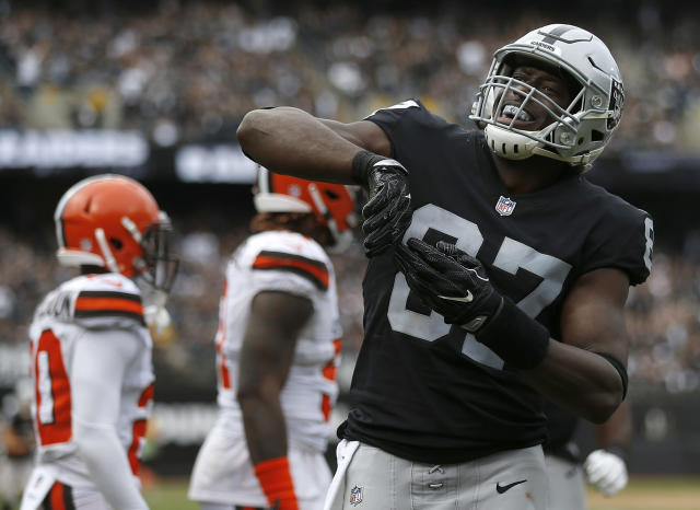 Jared Cook has a nice role in Jon Gruden's playbook with the Raiders. (AP)