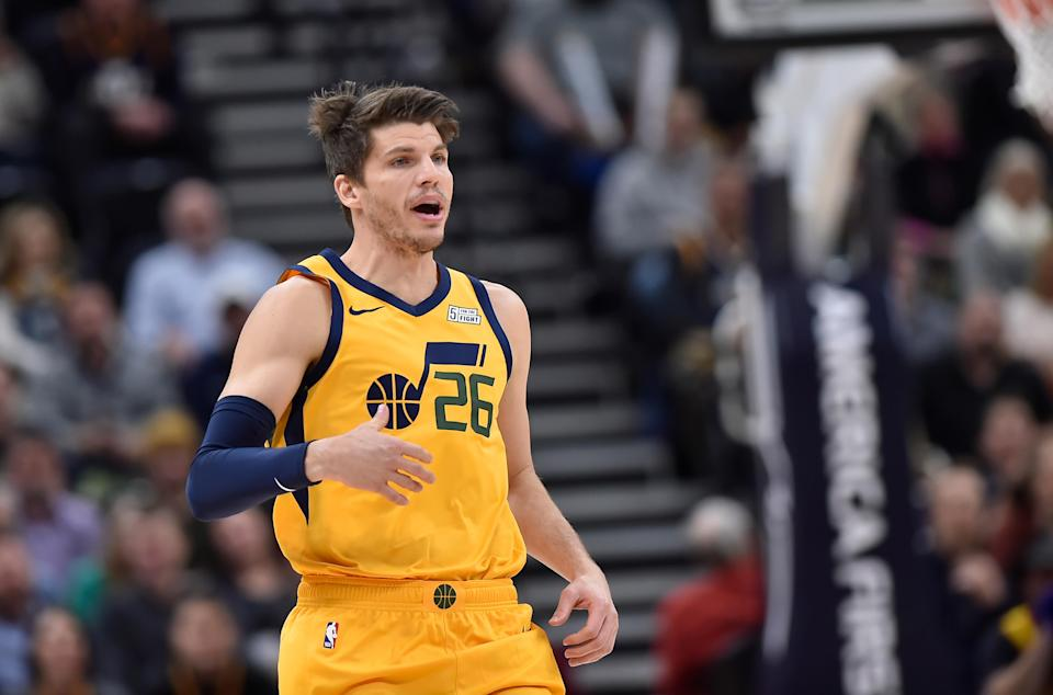 Kyle Korver re-took fourth place for career three-pointers after passing Jason Terry. (Photo by Gene Sweeney Jr./Getty Images)