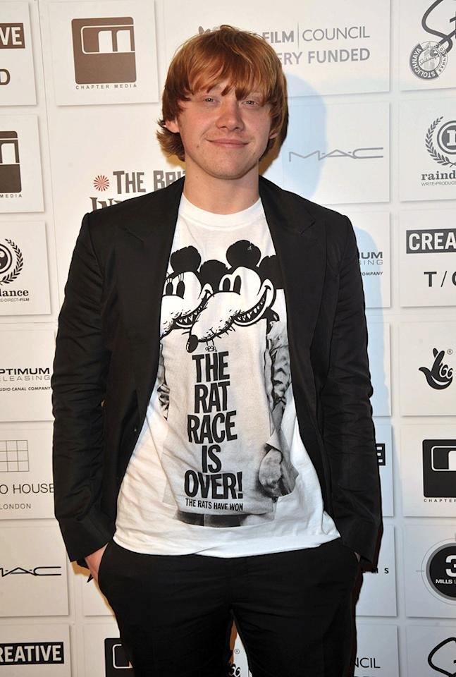 """<a href=""""http://movies.yahoo.com/movie/contributor/1802866082"""">Rupert Grint</a> at the 2009 British Independent Film Awards in London - 12/06/2009"""