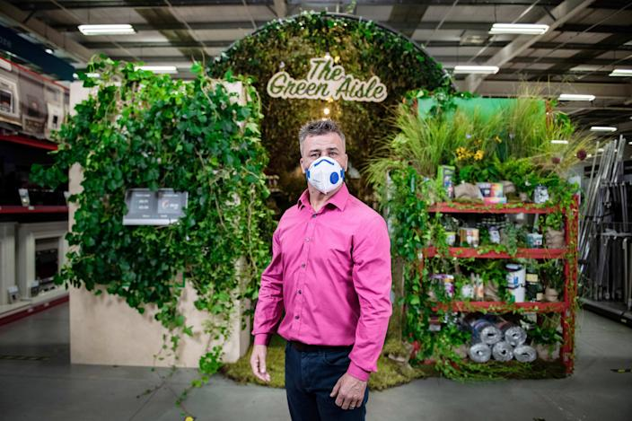 DIY expert Craig Phillips was one of the first to see 'The Green Aisle'. (SWNS)