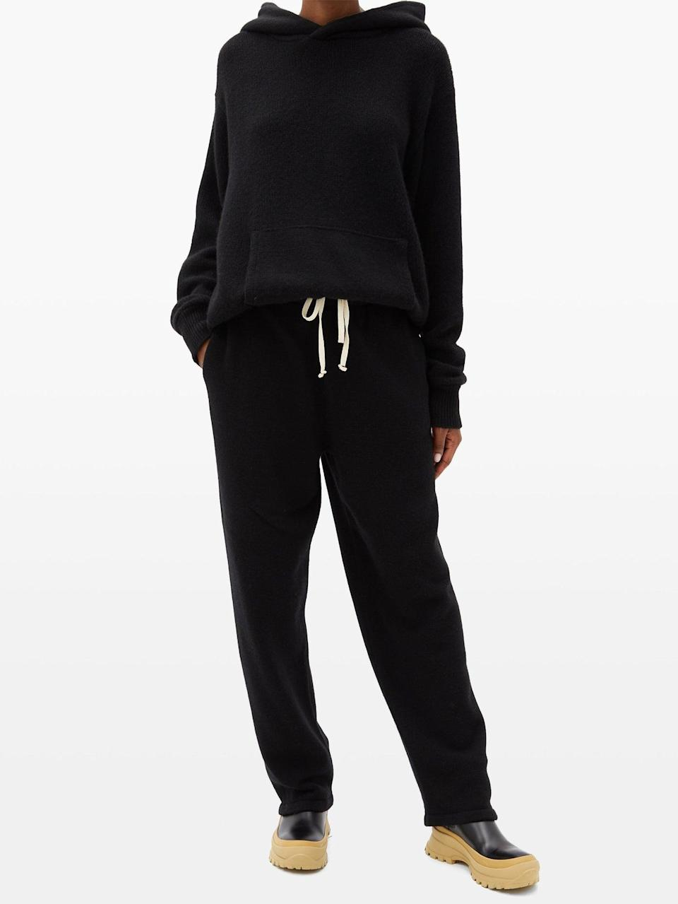 <p>This <span>Les Tien Hooded Cashmere Sweater</span> ($969) and <span>Track Pants</span> ($969) is about as luxe as it gets, but if you're feeling fancy, there's no going wrong.</p>